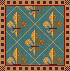 tapestry fleur de lis pattern - Google Search