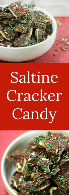 Saltine Cracker Candy   RoseBakes.com  This easy saltine cracker candy is made with saltines, chocolate, and other simple staple ingredients to make a delicious salty & sweet candy perfect for any party or get together! #recipe