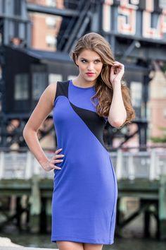 - Royal blue with Black Royal Blue, High Neck Dress, Wellness, Fall, Black, Dresses, Fashion, Turtleneck Dress, Autumn