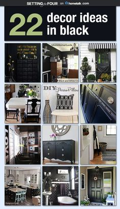 Black is classic and chic! Get inspiration from these decor ideas.