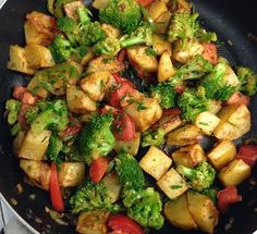 What do you do when you have potatoes, broccoli and tomatoes….you make my delicious roasted potatoes and broccoli dish. There is nothing fancy about this recipe however its delish factor is very high and its perfect for those nights were you don't want to fuss. The potatoes are roasted with garlic, rosemary and then mixed …