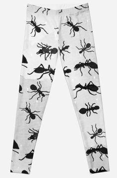 'Ants Pattern Funny Print' Leggings by Bithys Online Awesome Leggings, Best Leggings, Funny Prints, Christmas Shopping, Printed Leggings, Hoodies, Sweatshirts, Ants, Chiffon Tops