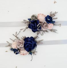 Wedding Corsage Wild Flowers And Large White Bow