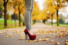 Vintage Red Cute High Heel Shoes