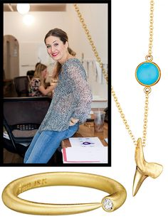Jewelry designer Candice Pool shares her style tips (both of these pretty pieces are from FINN, Pool's and her best friend Soraya Silchenstedt's jewelry line)