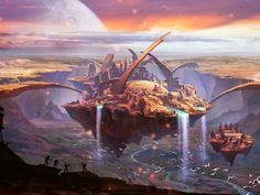200 Fantasy City Names for Your Fantasy World Fantasy City Names, Fantasy Places, Fantasy World, Concept Art Landscape, Fantasy Art Landscapes, Landscape Art, Fantasy Artwork, Fantasy Concept Art, Space Fantasy