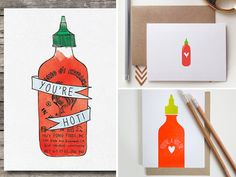 FN Dish: Hot Sauce Cards to Spice Up Your Mail - Oh So Beautiful Paper