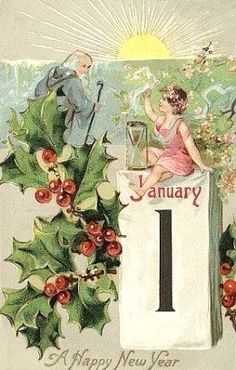 New Year Postcard Raphael Tuck Publishing Father Time With Angel Trailing Holly Embossed Series 745 Vintage Happy New Year, Happy New Year Cards, Happy New Year Greetings, Happy New Year 2019, New Year Wishes, Merry Christmas And Happy New Year, Vintage Christmas, Christmas Cards, Vintage Winter