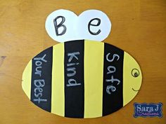 A bee craftivity is perfect for reviewing three simple classroom rules - Be Safe, Be Kind and Be Your Best!  Help your students remember the classroom rules with this cute little guy.