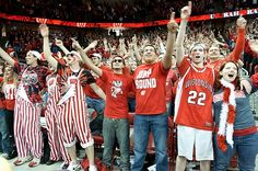Fans Cheer During a Men's Basketball Game
