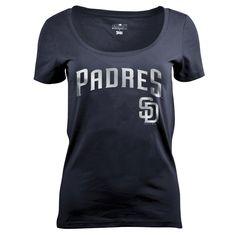 San Diego Padres Women's Dark Scoop Neck T-Shirt XL, Multicolored