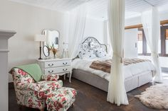 #bedroom #quarto #home #casa #flowerpattern #light