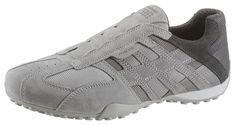 Geox »Snake« Sneaker, zum Schlupfen für 99,99€. Sportlicher Slipper im Materialmix, Aus Veloursleder und Mesh, Innenausstattung aus Textil bei OTTO