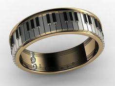 #Música / #Instrumentos & #Afins * Anel Piano Musical Note Ring *                                                                                                                                                     Más