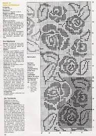 Znalezione obrazy dla zapytania szydełkowe wzory firanek