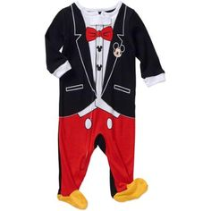 Mickey Mouse Newborn Baby Boy Footed Sleepwear Pajama Coming Home for Boy