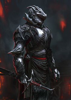 Dragon Armor by Antti Hakosaari - Your Daily Dose of Amazing beautiful Creativity and Digital Art - Fantasy Characters: Archers Assassins Astronauts Boners Knights Lovers Mythology Nobles Scholars Soldiers Warriors Witches Wizards Fantasy Warrior, Fantasy Dragon, Fantasy Weapons, Fantasy Sword, Evil Knight, Knight Art, Dragon Armor, Dragon Knight, Armor Concept