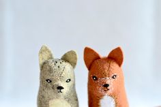reserved  2 little red fox  soft sculpture by MountRoyalMint