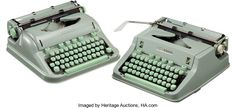 Larry McMurtry's Pair of Hermes 3000 Typewriters. Both used to write Lonsome Dove-- up for Auction | [Yverdon,Switzerland: E. Paillard, circa 1963-1970]. Larry McMurtry's ty...(Total: 2 Items)