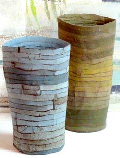 Slab Pottery, Ceramic Pottery, Pottery Art, Coil Pots, Sculptures Céramiques, Keramik Vase, Clay Vase, Pottery Designs, Pottery Ideas