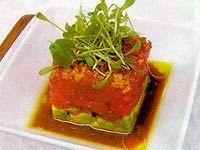 Receitas - Tartar de atum com abacate, crisp de cebola roxa ao molho wasabi - Petiscos.com