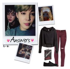 """Q&A~Answers With Jimin and Jin"" by fantasy-lover-0719 ❤ liked on Polyvore featuring H&M and Vans"