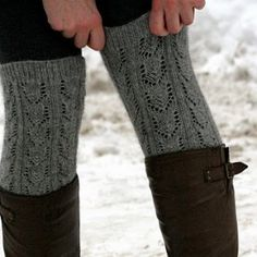 Common practice with boots, tights and knee highs (or leg warmers) with skirt in Ohio Winters.