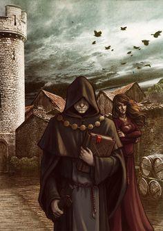 Elias e Ygrett- Infiltrada, Ygrett consiguió sustraer de los archivos de la Ciudadela los planes de Elías, el enviado de la Orden en Wexfjord.