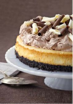 PHILADELPHIA Triple-Chocolate Cheesecake – Good things come in threes. In this case, three kinds of chocolate in your newest go-to dessert. Oreo Cookies plus melted chocolate plus white chocolate equals deliciousness.