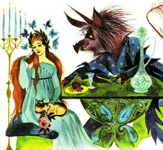 """""""From The Blue Book of Fairy Tales, illustrated by Gordon Laite, 1959."""""""