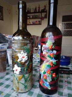 My Works, Bottle, Home Decor, Flask, Interior Design, Home Interiors, Decoration Home, Jars, Interior Decorating