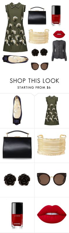 """""""Midweek Chic"""" by mindelais ❤ liked on Polyvore featuring Roger Vivier, Charlotte Russe, Erica Lyons, STELLA McCARTNEY, Chanel, Lime Crime and Isabel Marant"""