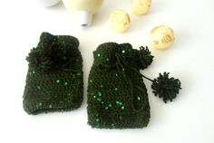 Warm+Crochet+Winter+Mittens++green+glovesgreen+payette+by+seno,+$27.00