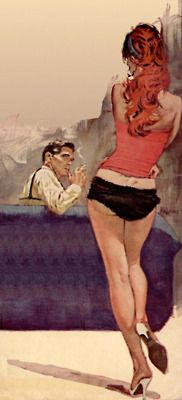 Illustration by Ron Lesser-  the cover art from the Novel : The Name is Jordan by Harold Q. Masur, 1962.