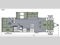 Apex Ultra-Lite 289TBSS Floorplan Image