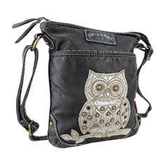 Black Hipster Crossbody Bag w/ Silver Owl, Vegan Leather Purse, Hippie Handbag UNIONBAY http://www.amazon.com/dp/B00ZVBY10I/ref=cm_sw_r_pi_dp_47uPvb1DBBKVQ