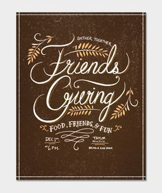 Throw a Friendsgiving (thanksgiving replacement) Friends Thanksgiving, Thanksgiving Parties, Thanksgiving Crafts, Holiday Parties, Holiday Fun, Thanksgiving Invitation, Holidays And Events, Party Planning, Party Invitations