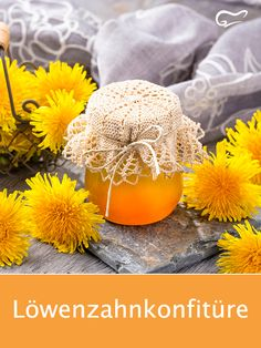 With this recipe for a delicious dandelion jam you get the fr . Best Chicken Coop, Chicken Feed, Edible Wild Plants, Real Plants, Pumpkin Dip, Diy Projects For Beginners, Kraut, Bon Appetit, The Ordinary