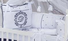 Decore o berço do bebê com enxoval personalizado
