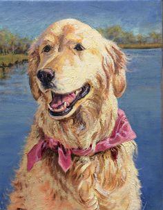 Casey, dog portrait in oil by Betsey MacDonald   www.bmacdonald.net