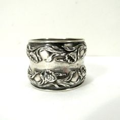 Antique Sterling Silver Art Nouveau Napkin Ring