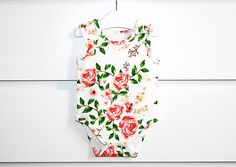 Baby bodysuit  organic cotton  organic baby clothes girl