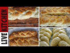 Αφράτα νηστίσιμα τσουρέκια με ίνες για το Πάσχα και τη Σαρακοστή! Vegetarian Side Dishes, Vegetarian Recipes, Greek Sweets, Bon Appetit, Hot Dog Buns, Happy Easter, Food And Drink, Sugar, Bread