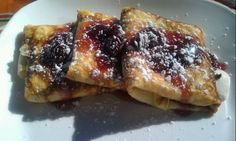 Stuffed Crepes with Cherry-Brandy Sauce