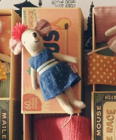 Maileg Big Sister Nautical Mouse in Matchbox