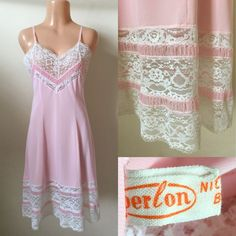 "Label: Perlon. Bust 36-37"". Length shoulder to hem 40"". Waist 28-32"". 
