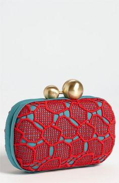 Diane von Furstenberg 'Sphere' Lace Clutch | Nordstrom
