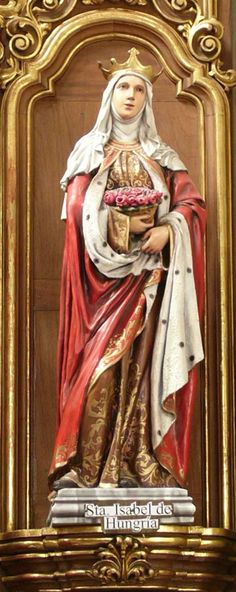 St. Elizabeth of Hungary - statue in church in Mexico
