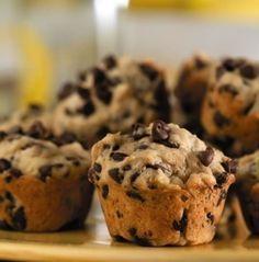 Banana Chocolate Chip Mini Muffins Recipe. Diabetic Friendly, low carb recipe from Diabetic Gourmet Magazine. DiabeticGourmet.com