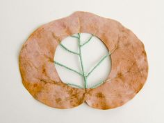 Stitched Leaves by Hillary Fayle leaves embroidery http://www.thisiscolossal.com/2014/06/stitched-leaves-by-hillary-fayle/